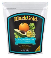 Black Gold Citrus, Avocado & Vine, 7-3-3, 4lb, Fertilizer, OMRI