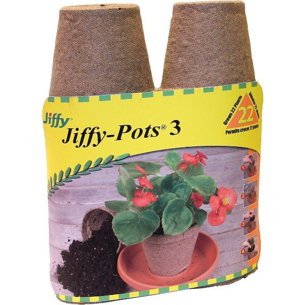 Jiffy Peat Pots 3-inch Round Seed Starting Pots