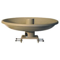 "Farm Innovators 20"" 150watt Tan All Season Bird Bath W/Deck Mount"