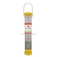 "Droll Yankee 15"" 6 Port Yellow Nyjer Upside Down Tube Feeder"