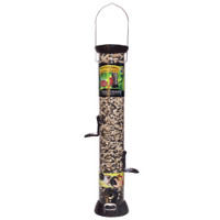 "Droll-Yankees-18""-Onyx-Sunflower-Tube-Feeder-w/Removable-Base"