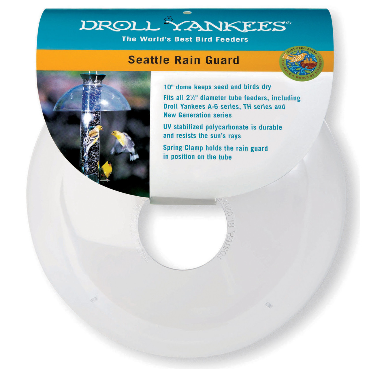 "Droll-Yankee-Seattle-Rain-Guard-Dome-Fits-2.5""-Tube"
