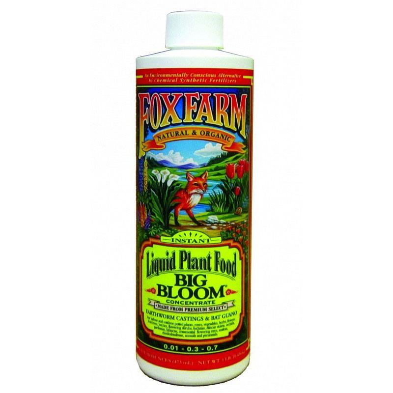 Fox Farm Big Bloom Liquid Plant Food, Concentrate, 1 Pint