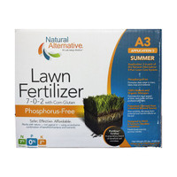 Natural Alternative Lawn Fertilizer (7-0-2) with Corn Gluten, A3, Summer