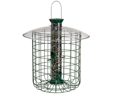 20-in-Sunflower-Domed-Cage-Shelter-Feeder