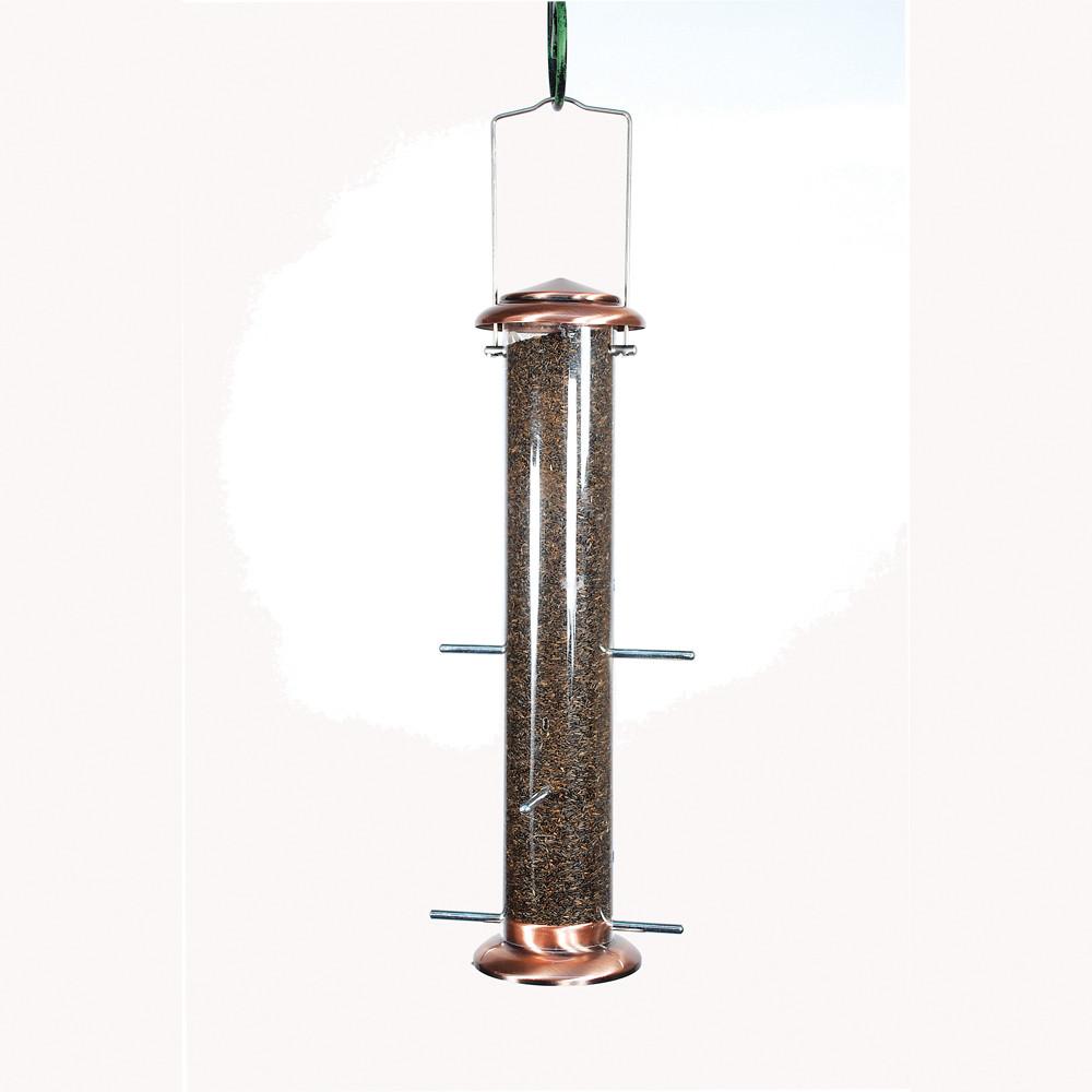 Woodlink-Audubon-4-Port-Brushed-Copper-Thistle-Feeder