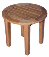 Teak-Round-End-Table-18.5in-Dia-by-Regal-Teak