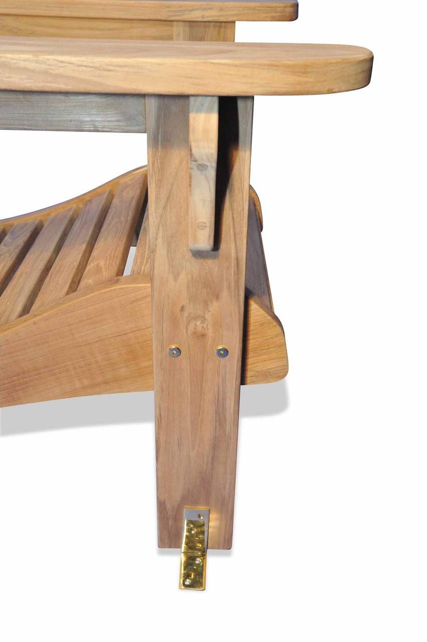 Teak Furniture Brass Angle Bracket Pair