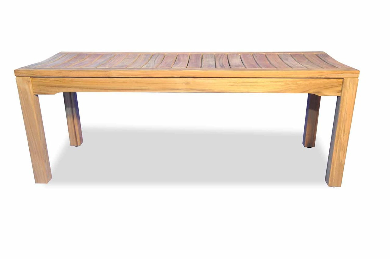 Teak Furniture Teak Rosemont Backless Bench