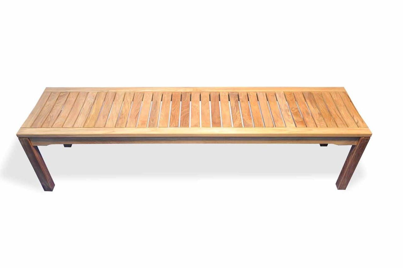 Teak Furniture Teak Rosemont Backless Bench