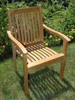 Teak Furniture Teak Tisbury Stacking Chair