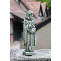 Campania Stone 14 inch st fiacre statue