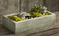 Tranquility Garden Set (2 pcs), campania Cast Stone Statue Garden Art
