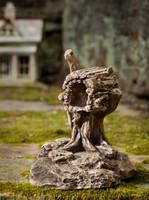 Campania Stone gnome rfd mailbox statue.