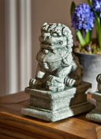Campania Stone small temple foo dog left.