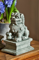 Campania Stone small temple foo dog right.
