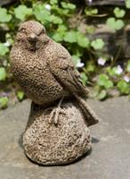 Campania Stone sparrow statue.