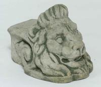 Campania Lions Head Riser, Cast Stone Pot Riser