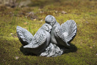 Campania Stone small pair doves statue.