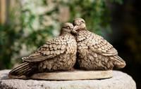Campania Stone lovebirds statue.