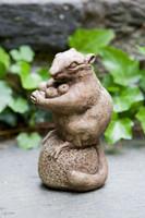 Campania Stone autumn chipmunk statue.