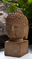 Campania Small Serene Buddha, Cast Stone Asian Accents Statue Garden Art