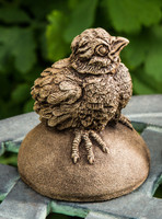 Campania Stone tweet bird statue.