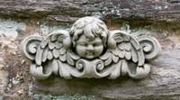 Campania Stone williamsburg cherub plaque.