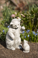Campania Mousie, Cast Stone Animal Statue Garden Art