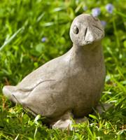 Campania Stone duck bitsy statue.