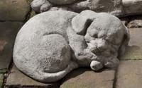 Campania Stone curled dog small.