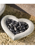 Campania Stone heart shell small.