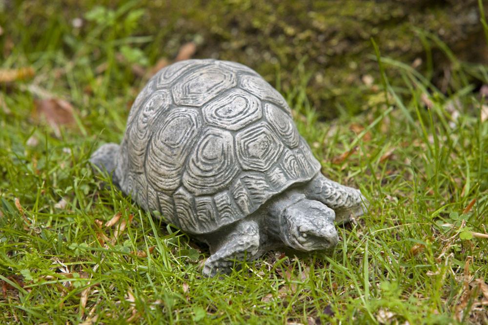 Campania Stone turtle statue small.