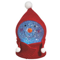 Shimmer Snowman Snow Globe with Hat & Scarf