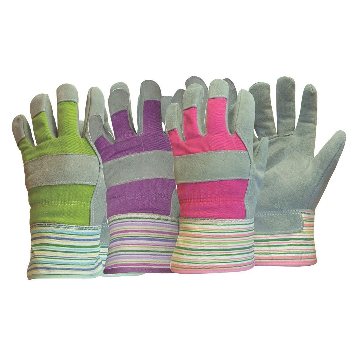 Ladies Leather Palm Garden Gloves