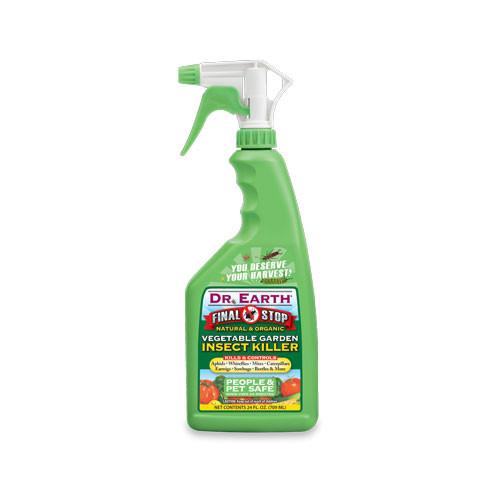 Dr. Earth Final Stop Vegetable Garden Insect Killer Spray - 24 OZ
