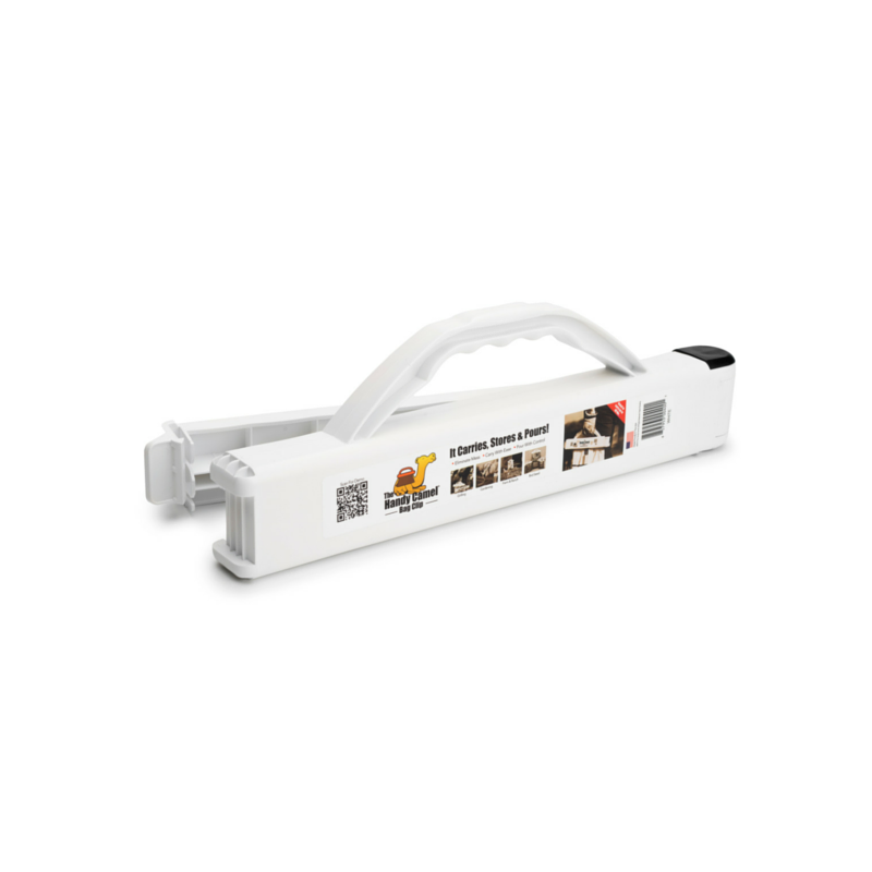The Handy Camel Bag Clip in White