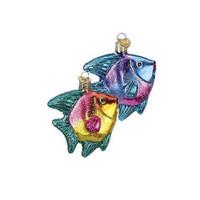 Tropical Angel Fish Christmas Ornament Set