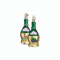 Chianti Wine Bottle (32011) Old World Christmas Glass Ornament
