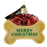 Old World Christmas Dog Treat Glass Blown Ornament