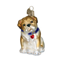 Old World Christmas Bull Pup Glass Blown Ornament