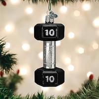Old World Christmas Dumbbell Glass Ornament