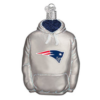 Old World Christmas New England Patriots Hoodie Glass Blown Ornament