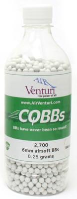 Air Venturi CQBBs 6mm biodegradable airsoft BBs, 0 25g, 2700 rds, white