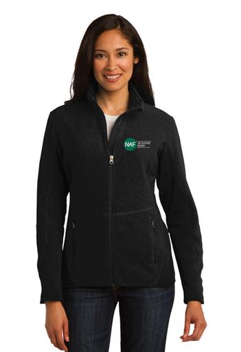 Ladies Embroidered Pro Fleece Full Zip Jacket