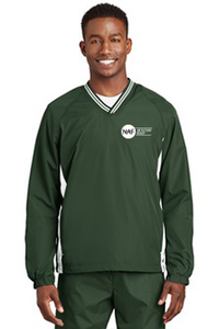 Tipped V-Neck Raglan Wind Shirt (Green)
