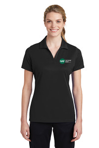 Ladies Racermesh Polo (Black)