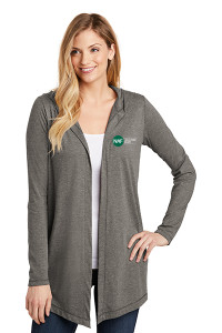 Women's Perfect Tri Hooded Cardigan (Gray)