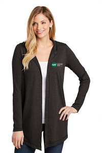 Women's Perfect Tri Hooded Cardigan (Black)