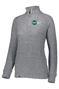 Ladies Cuddly 1/4 Zip Pullover (Gray)
